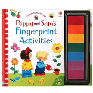 Usborne books Poppy and Sam's fingerprint activities  3Y+หนังสือ Poppy and Sam's fingerprint activities สำหรับเด็ก 3 ปี ขึ้นไป