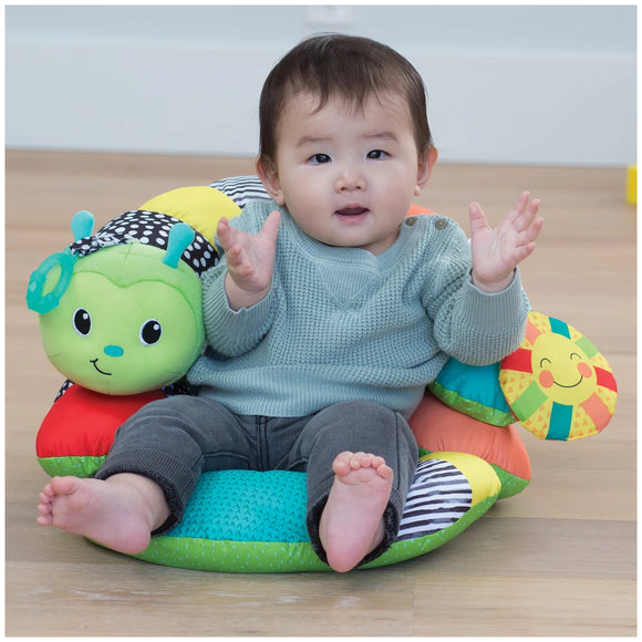 Infantino  Prop-A-Pillar Tummy Time & Seated Support  หมอนเกลียวลายตัวหนอน