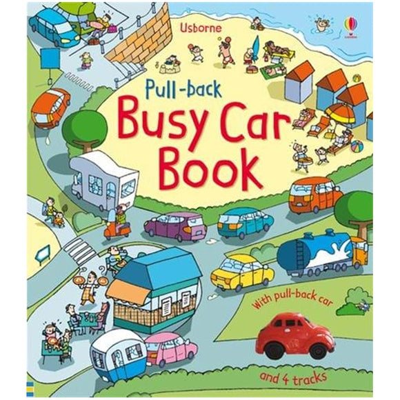Usborne books-Pull-back busy car book  3Y+หนังสือ Pull-back busy car book สำหรับเด็ก 3 ปี ขึ้นไป