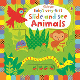 Usborne Baby's very first Slide and see animals  1Y+ หนังสือ Baby's very first Slide and see animals  สำหรับเด็ก 1ปี ขึ้นไป