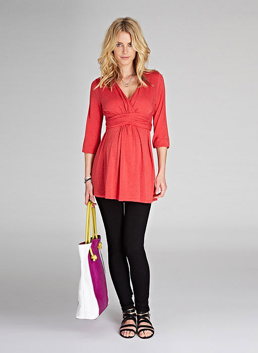 Isabella Oliver The Empire Tie Top-Raspberry Melange