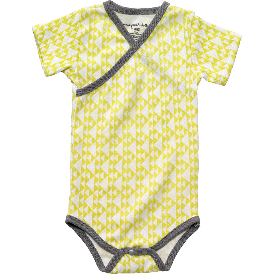 PPB ชุดหมี แขนสั้น Organic Cotton Shortsleeve Bodysuit-Tipped Triangles
