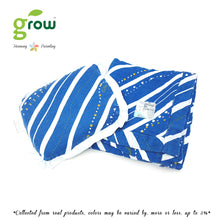 Load image into Gallery viewer, Grow หมอนหลุมพร้อมปลอกหมอนใยไผ่ Natural Latex Baby Pillow with Bamboo muslin Case - Rivera Deep Ocean