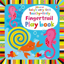 Load image into Gallery viewer, Usborne booksBaby's very first touchy-feely fingertrail play book 0+หนังสือBaby's very first touchy-feely fingertrail play book สำหรับเด็กเเรกเกิดขึ้นไป