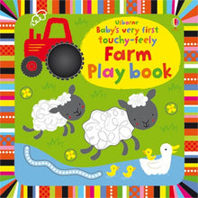 Load image into Gallery viewer, Usborne booksBaby's very first touchy-feely farm play book 0+หนังสือBaby's very first touchy-feely farm play book สำหรับเด็กเเรกเกิดขึ้นไป