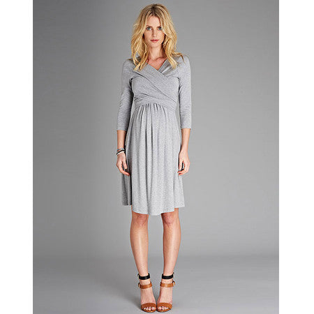 Isabella Oliver Emily Dress-Grey Melange