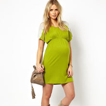 Load image into Gallery viewer, Isabella Oliver Ella Knit Dress-Silver Melange/Citrus Green