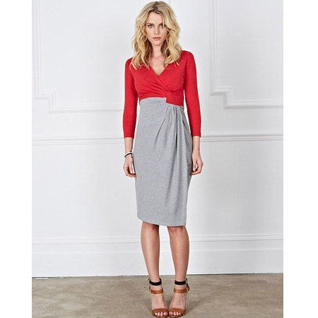 Isabella Oliver Lana Dress-Raspberry Melange/Grey Melange