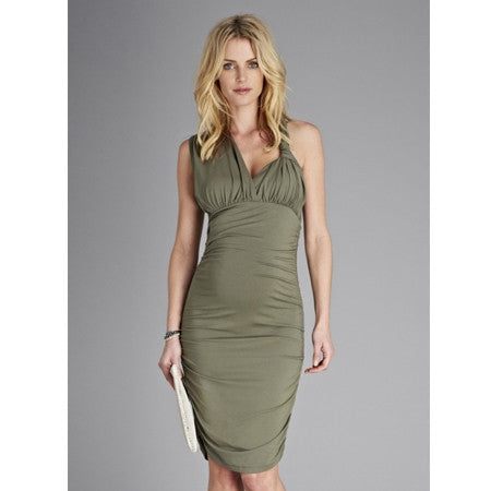 Isabella Oliver Loretta Dress-Khaki