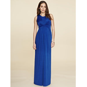Isabella Oliver Gathered Detail Maxi Dress-Cobalt Blue