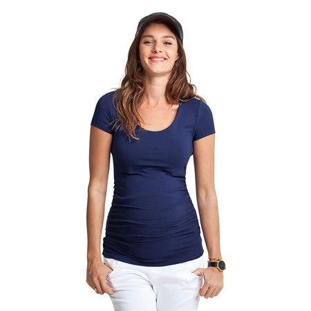 Isabella Oliver Cap Scoop Top-French Navy