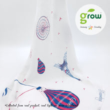 Load image into Gallery viewer, Grow-bamboo muslin swaddle-Bearboo in Paris Royal Pink โกรว ผ้าห่อตัวมัสลินจากใยไผ่ 100% ลาย Bearboo in Paris Royal Pink
