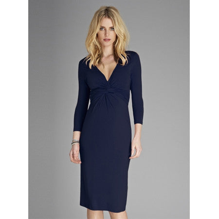 Isabella Oliver Tie Knot Dress-French Navy