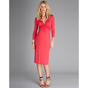 Isabella Oliver Tie Knot Dress-Pink Rose