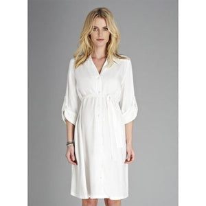 Isabella Oliver Una Shirt Dress-Off White