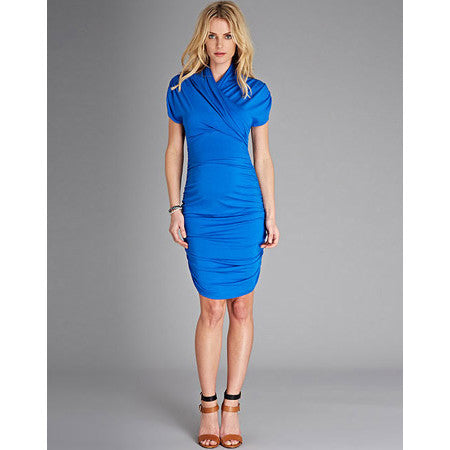 Isabella Oliver The Urban Ruched Dress-Cobalt Blue