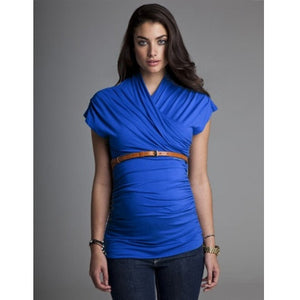 Isabella Oliver The Urban Ruched Top-Cobalt Blue