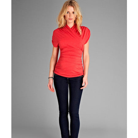 Isabella Oliver The Urban Ruched Top-Raspberry
