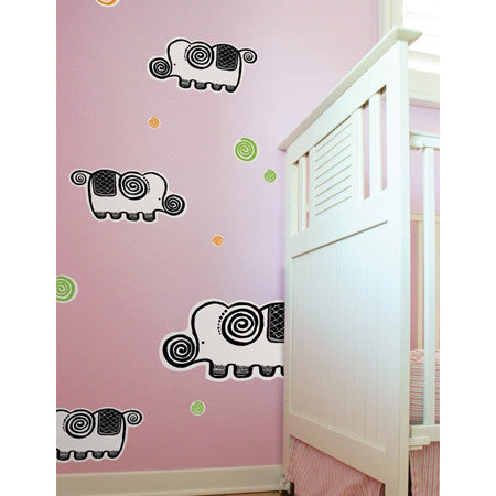 None Toxic Re-positionable Wall Stickers-Elephant