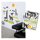 None Toxic Re-positionable Wall Stickers-Safari (Clearance Sale)
