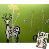 None Toxic Re-positionable Wall Stickers-Woodland (Clearance Sale)