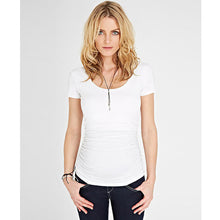 Load image into Gallery viewer, Isabella Oliver Cap Scoop Top-Pure White
