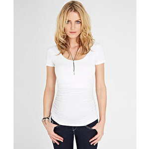 Isabella Oliver Cap Scoop Top-Pure White