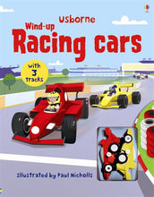 Load image into Gallery viewer, Usborne books-Wind-up racing cars 3Y+หนังสือWind-up racing cars  สำหรับเด็ก 3 ปี ขึ้นไป