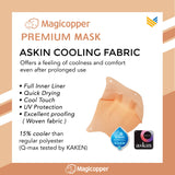 MAGICOPPER PREMIUM MASK (FULL LINER WITH LANYARD) - LIGHT PINK