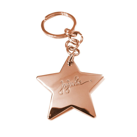 STAR KEYCHAIN - ROSE GOLD