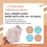MAGICOPPER PREMIUM MASK (FULL LINER WITH LANYARD) - SKY BLUE