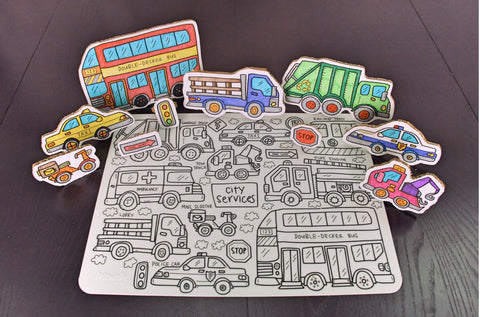 Washable Silicone Coloring Mat - City Services