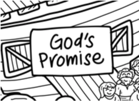 Washable Silicone Coloring Mat - God's Promise