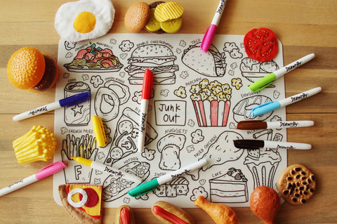 Washable Silicone Coloring Mat - Junk Out