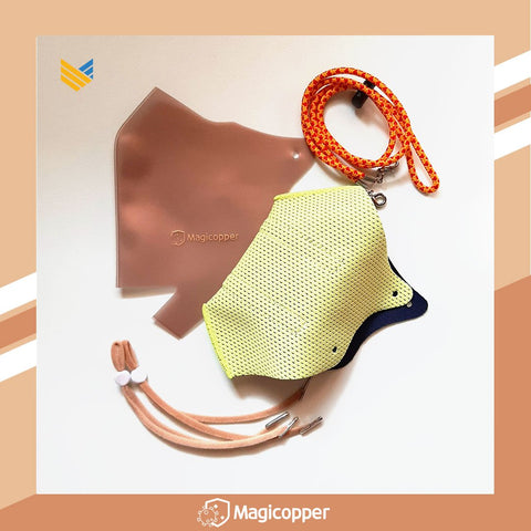 MAGICOPPER PREMIUM MASK (FULL LINER WITH LANYARD) - LIME