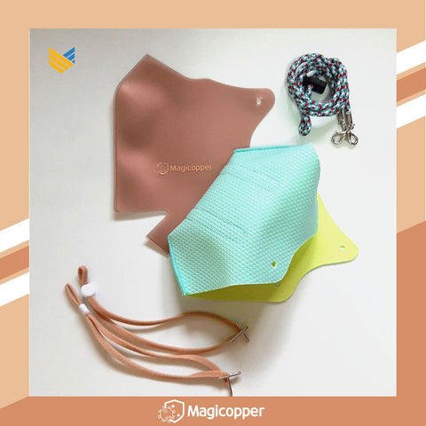 MAGICOPPER PREMIUM MASK (FULL LINER WITH LANYARD) - MINT