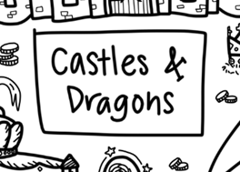 Washable Silicone Coloring Mat - Castles & Dragons