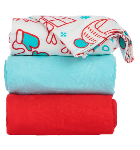 TULA BLANKET SET (3 PCS) - SNOW DAY