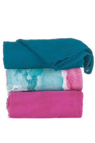 TULA BLANKET SET (3 PCS) - WATERCOLOR