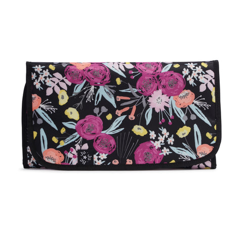 CHANGING PAD - ONYX BLACK AND BLOOM
