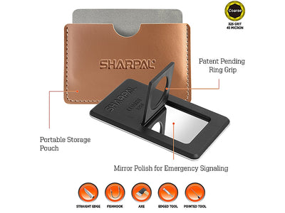 Sharpal Credit Card Size Sharpening Stone - 3 Piece Set