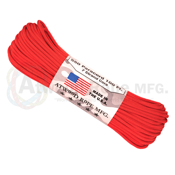 Atwood Rope Company 550 Paracord Red 30mtr