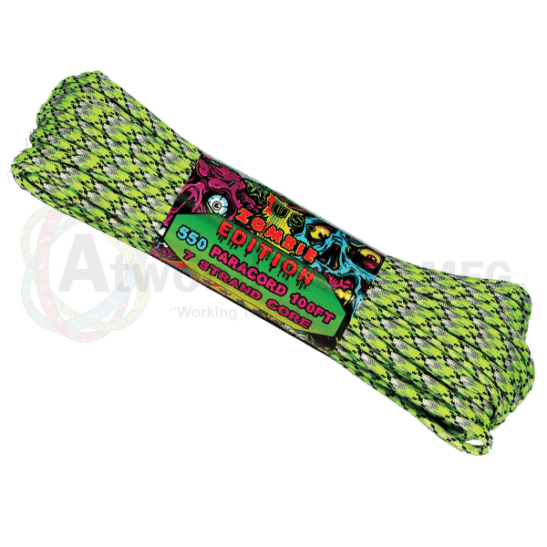Atwood Rope Company 550 Paracord Zombie Biosludge 30mtr-Bushcraft-BushcraftLab