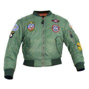 Mil-Com MA1 Kids Flight Jacket Green