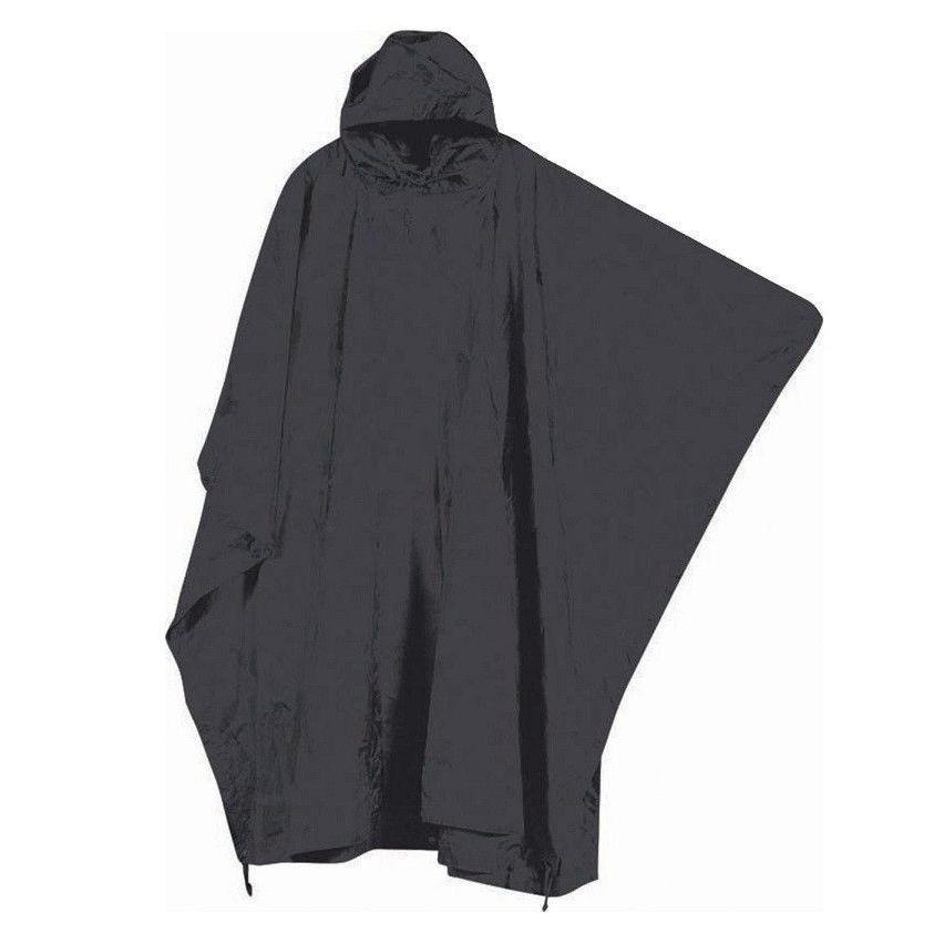 Mil-Com Water Proof Poncho Black-Clothing-BushcraftLab