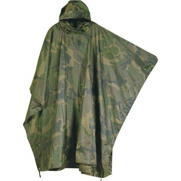Mil-Com Water Proof Poncho Camo-Clothing-BushcraftLab
