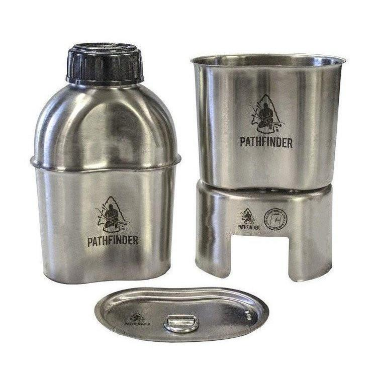 Pathfinder Stainless Canteen Cooking Set-Camping-BushcraftLab