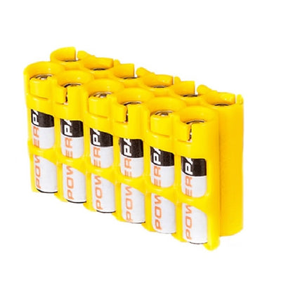 Storacell AAA Battery Case Yellow