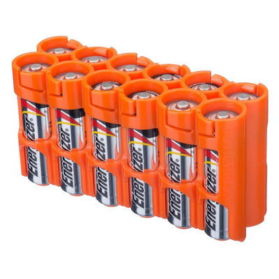 Storacell AA Battery Case Orange
