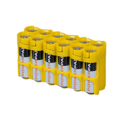 Storacell AA Battery Case Yellow